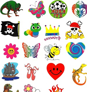 Fundraising Pack of Mixed Tattoos - 120 tattoos