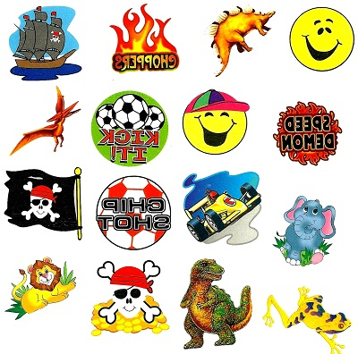 Fundraising Pack of Tattoos for Boys:  120 Tattoos