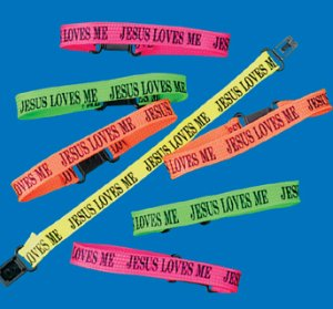 Sunday School 12 Pack - Jesus Loves Me Friendship Bracelets - 12 Pack
