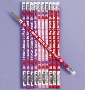Jesus in my heart pencils - 12 pack