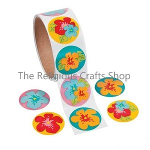 Flower Stickers - Pack of 50