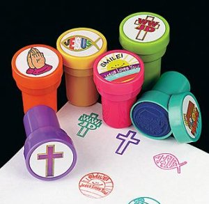 Religious stamps:  pack of 6