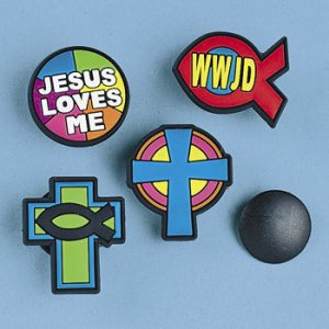 Religious Badges for Crocs - Pack of 4
