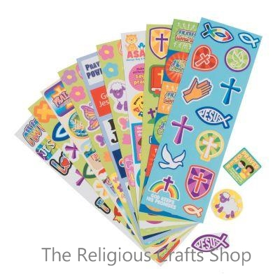 Religious Sticker Sheet:  1 unit