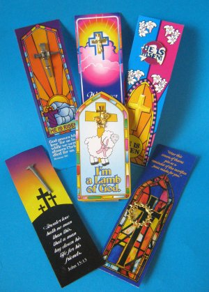 Easter Inspirational Bookmark and Brooch: 1 unit