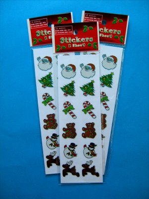Christmas Prism Sticker Selection 1:  1 sheet