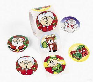 Christmas fun stickers: 50 pack