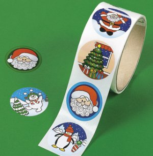 Christmas stickers - 50 stickers