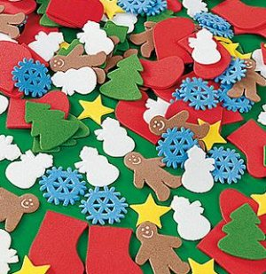 Foam Christmas shapes - pack of 200