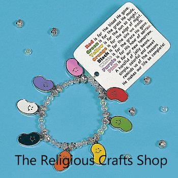 Faith Jelly Bean Charm Bracelet Craft - 1 unit