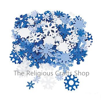 Pack of 200 foam Snowflake Shapes
