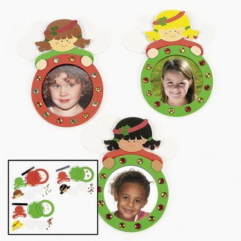 Christmas Angel Photo Frame Craft - 12 Pack