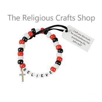 'Believe' Bead Bracelet Craft:  1 unit