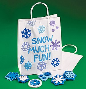 Snowflake Stamps:  large size
