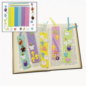 Mega Pack of He Lives Foam Bookmarks Crafts- 24 Pack