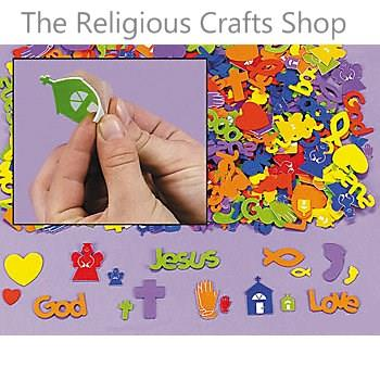 Foam Self Adhesive Religious Shapes:  pack of 50