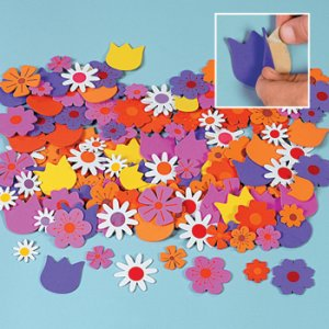 Self Adhesive Foam Daisy Design Flower Shapes - Pack of 50