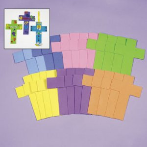 Large Foam Crosses - Pack of 6