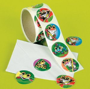 Funky Frog Stickers:  50 stickers