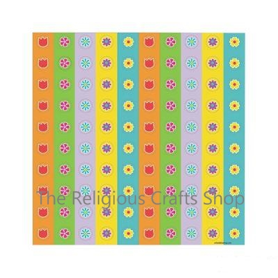 Mini Flower Stickers - sheet of 50 stickers