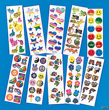Christian, Jewish and fun kids stickers